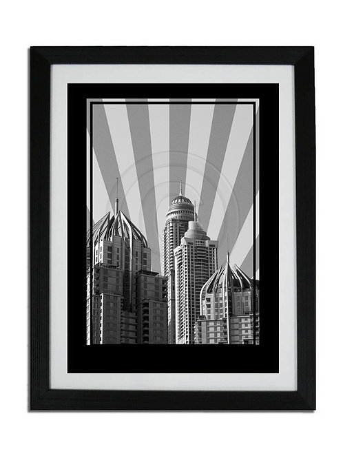 DUBAI MARINA TOWERS PRINT