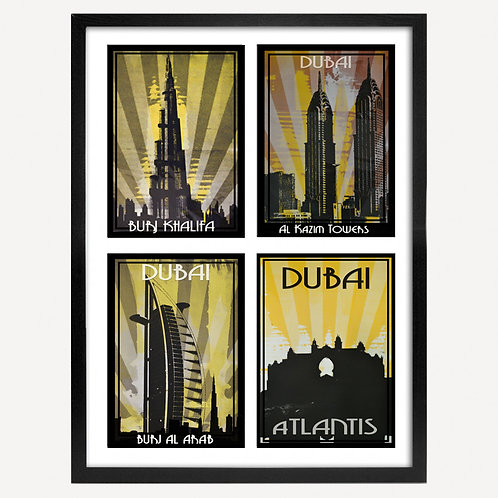 4 x 4 POSTCARD COLLECTION SCREEN PRINTS