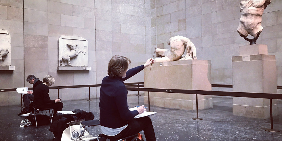 Three Full Days Drawing from the Parthenon Frieze  (Monday, Tuesday & Wednesday