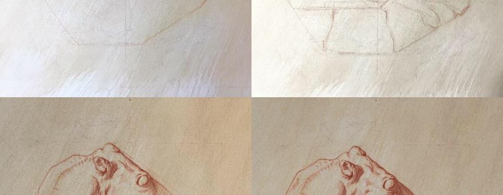Copy of Bargue's lithogragh plate 1, 37