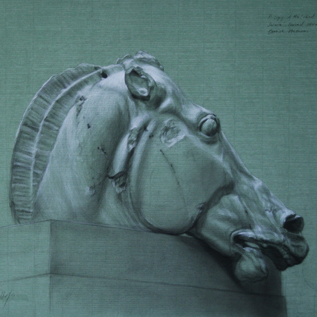 Drawing of the Head of the Horse of Selene