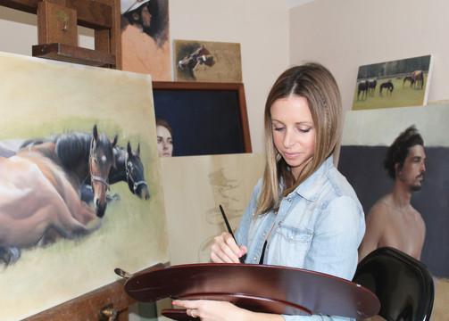 Nichola Preparing for her 2016 Solo Exhibition