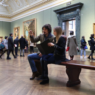 Drawing in the National Gallery, London