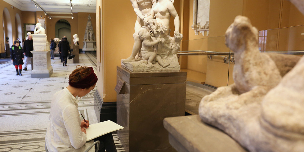 A Half or Full Day Drawing Sculpture in the V&A