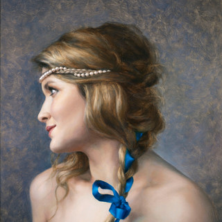 Nichola's Painting, String of Pearls and Lace