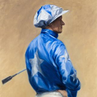 Jockey in Blue Silks