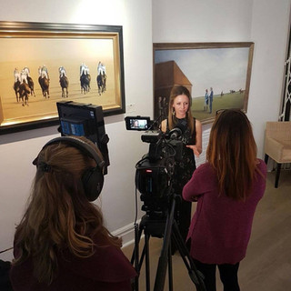 Interview with Channel 4 Racing at the Osborne Studio Gallery