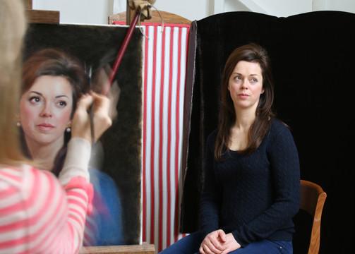 Nichola Painting a Portrait Commission in 2015