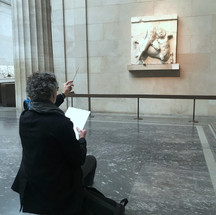 Students Drawing from the Parthenon Marbles