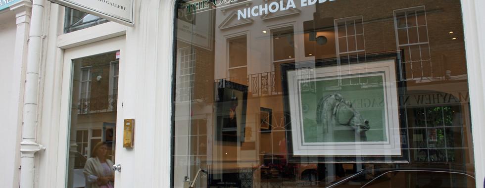 The Osborne Studio Gallery's Window for Nichola's 2014 Solo Exhibition