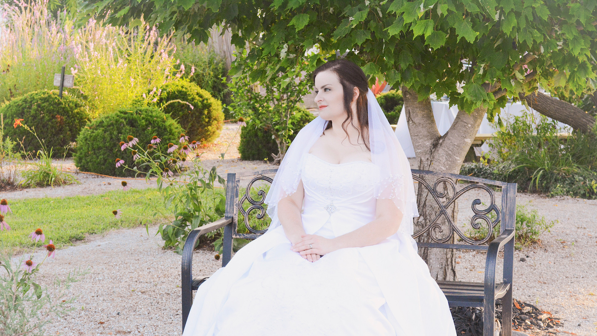 7-Bride seated on iron bench.jpg