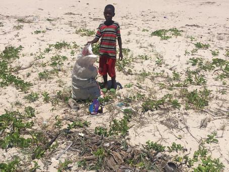 Green socks on Kasa Beach Tanzania!