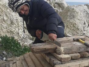 Driftwood sculptures collaborative art installation