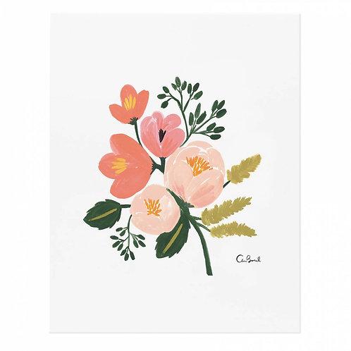 rose botanical art print