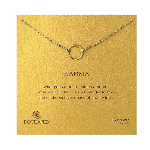 """16"""" Karma Necklace in Gold"""