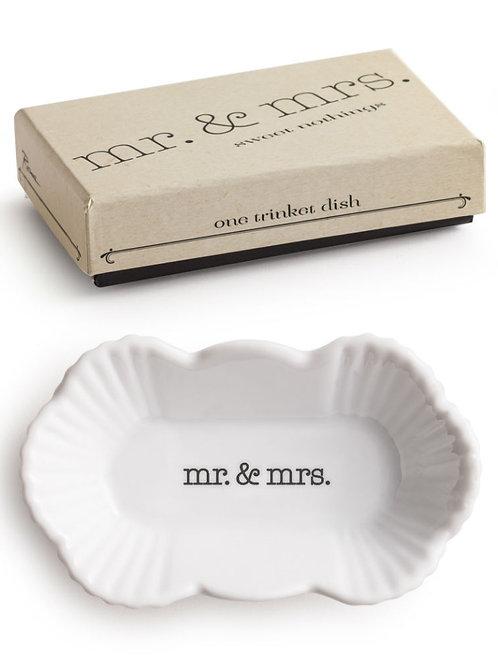 mr. & mrs. trinket dish