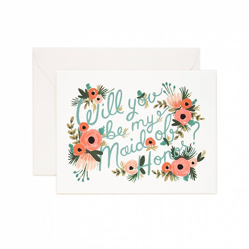 maid of honor single card