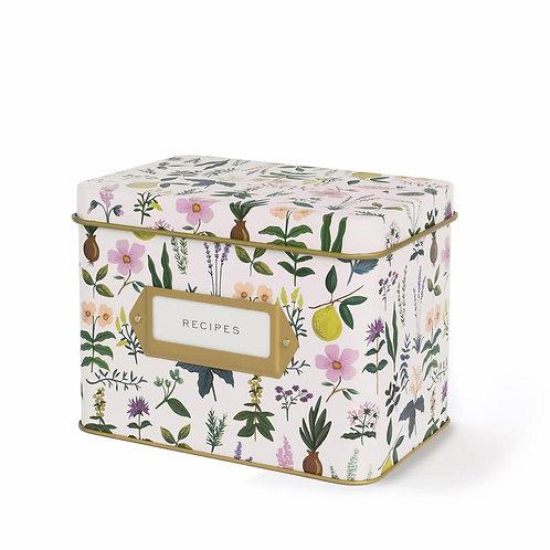 herb garden recipe tin box