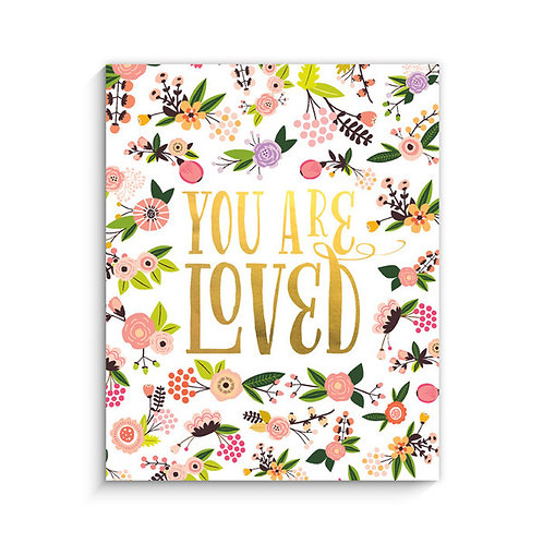 floral you are loved print