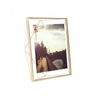 """matte brass prisma photo frame- 8""""x10"""""""