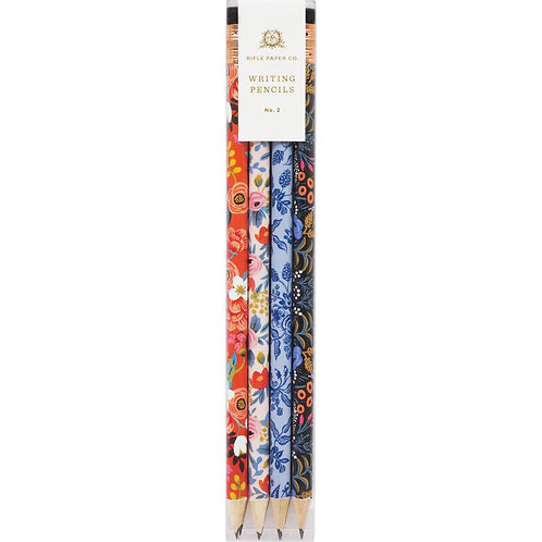 floral writing pencil set