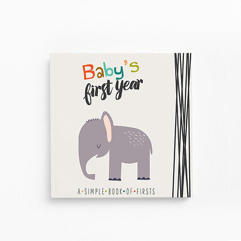 'baby's first year' memory book