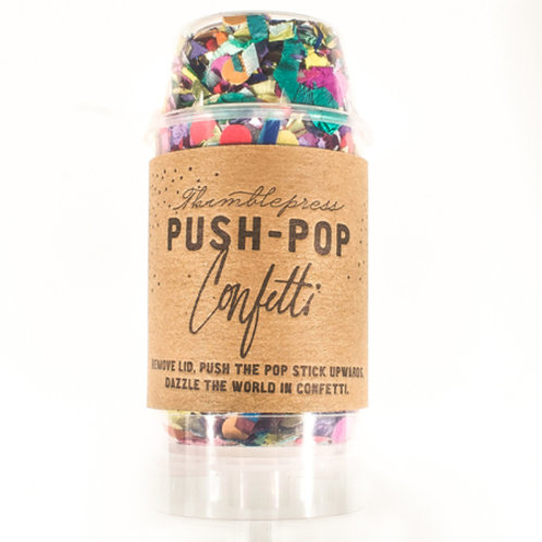 multi-color confetti push pop