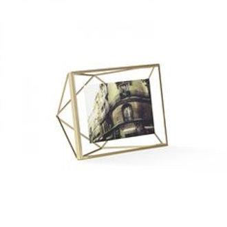 """matte brass prisma photo frame- 4""""x6"""""""