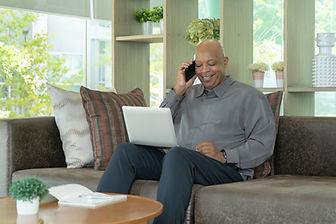 Business senior old elderly Black Americ