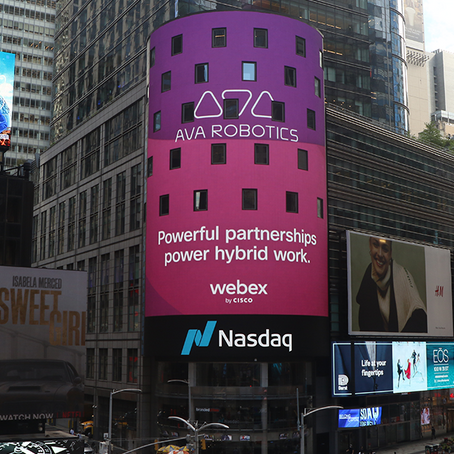Ava + Webex Lights up Times Square