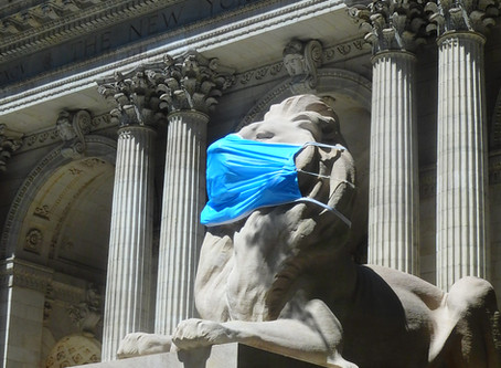 NY市は経済再開reopenがPhase4へ移行しました!(その3・ライオンもマスクしてます)