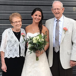 I can't tell you how much it meant to have my parents - Tara's grandparents - to come to this wedding and show their love and support for th