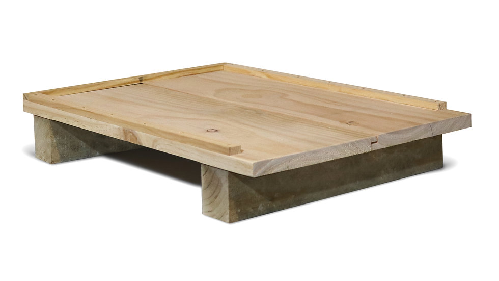 Solid Hive Floor Board - Assembled