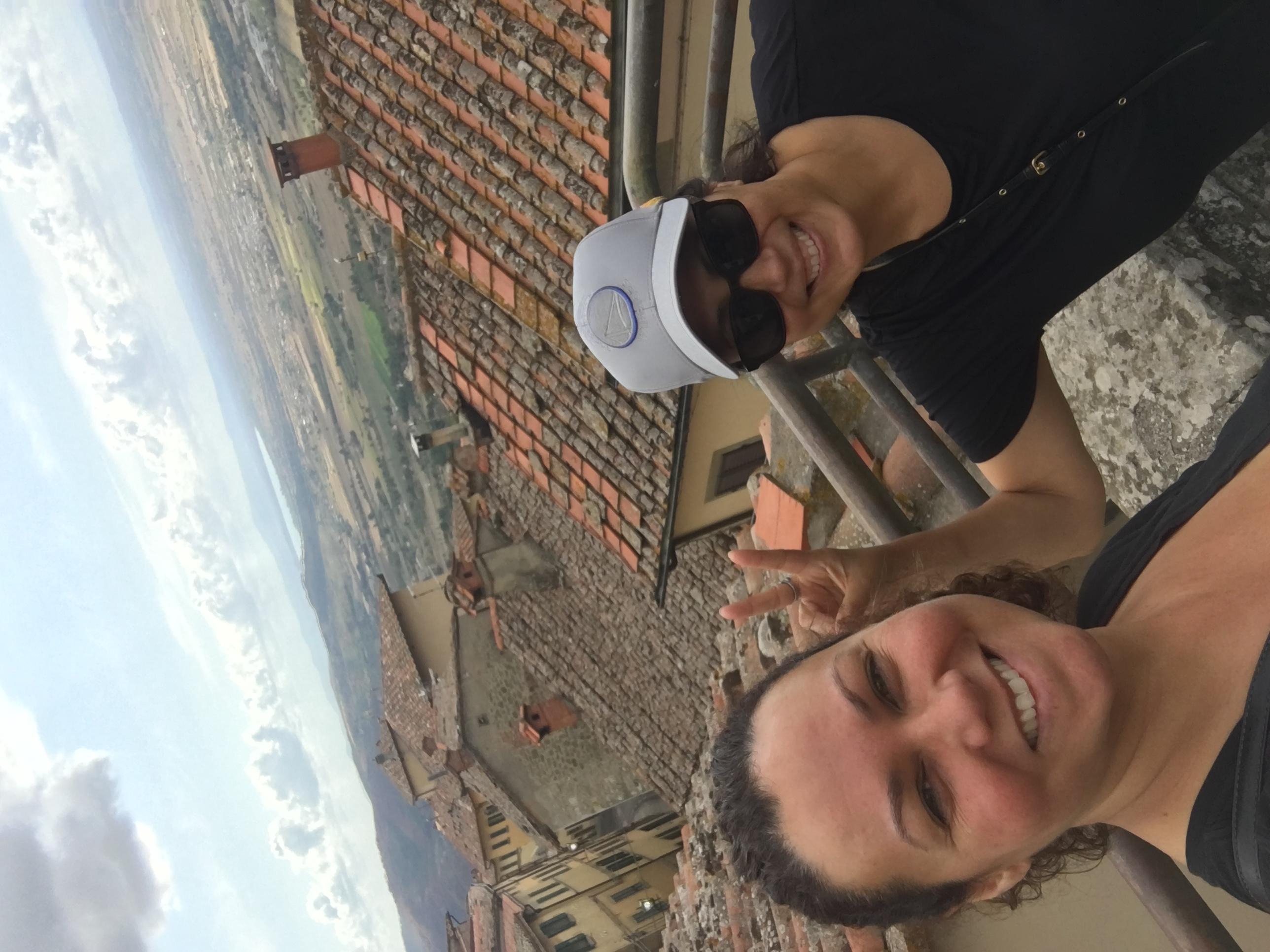 morning hike in Cortona