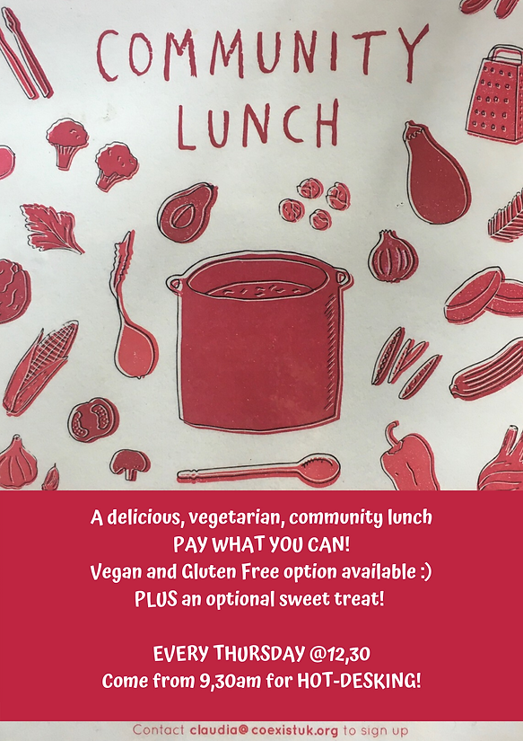 A delicious, vegeterian, community lunch