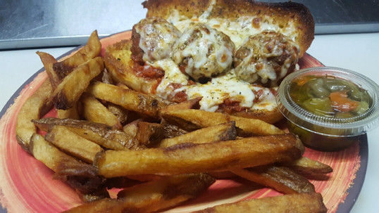 Meatball Sandwich - Mondays only.