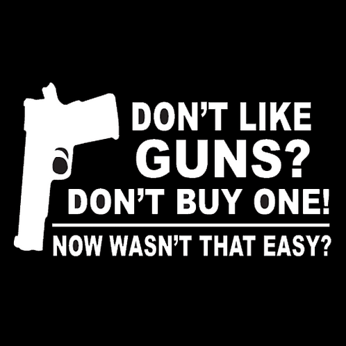 Don't Like Guns? Don't Buy One (G124)