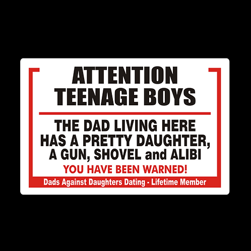 Attention Teenage Boys, You Have Been Warned (G395)
