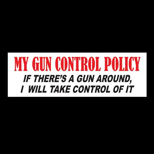 My Gun Control Policy (G105)