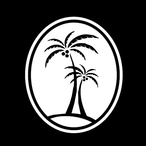 Palm Trees In Oval Backdrop (B1)