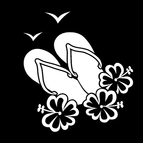 Sandels, Hibiscus and Seagulls (B14)