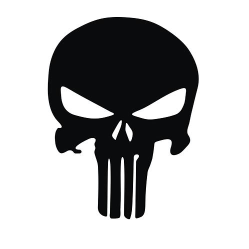 Black Punisher Skull (SK18)