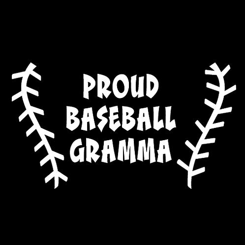 Proud Baseball Gramma - Baseball Stitching (BB17)