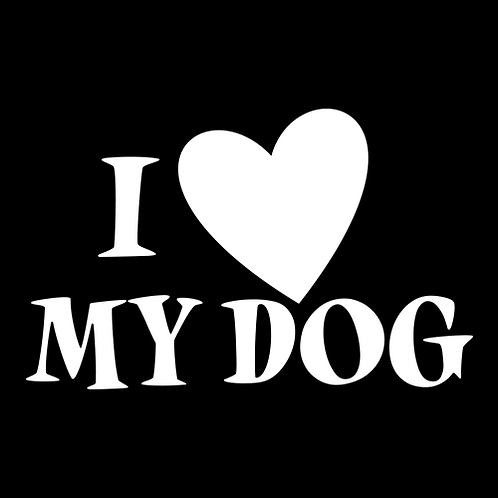 I Love My Dog - Heart (PD14)
