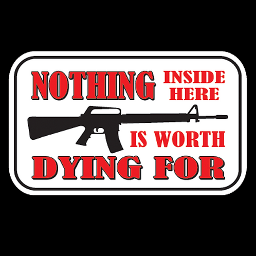 Nothing Inside Worth Dying For - AR (G70)