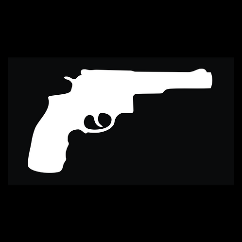 Double Action Revolver Silhouette (G323)