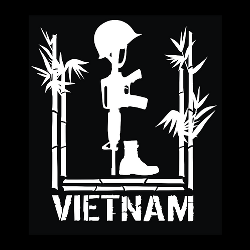 Vietnam Fallen Soldier - Double Bamboo (V10)