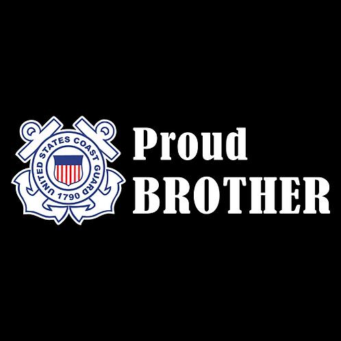 Proud Coast Guard Brother - Logo (CG20)