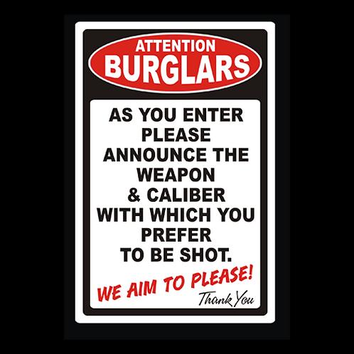 Attention Burglars (G329)