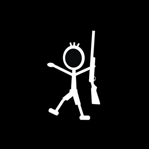 Young Boy Stick Figure - Shotgun (G377)